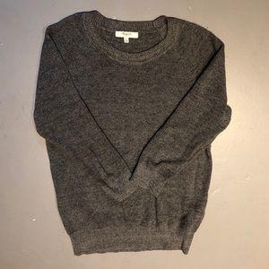 Madewell Gray Waffle Knit Sweater